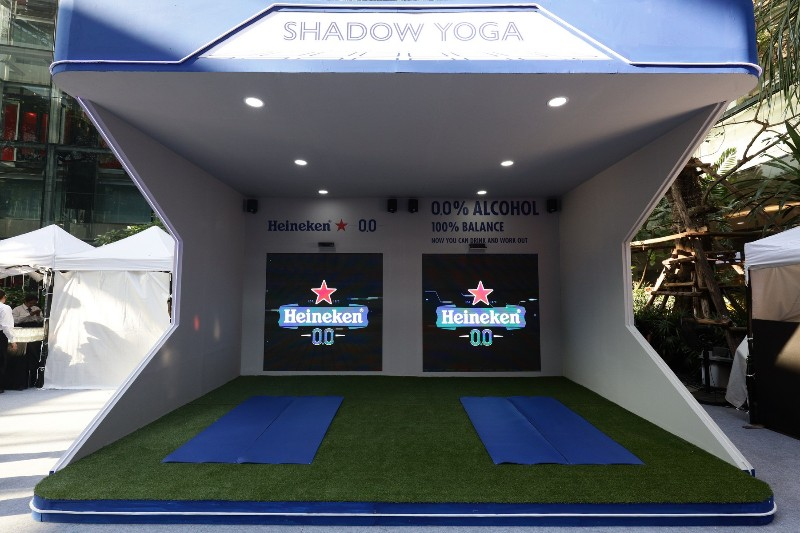 Heineken 0.0 Barcade_เกม Shadow Yoga-800x533